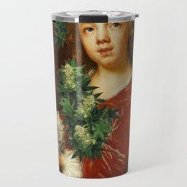 weed girl Travel Mug