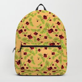 Orange Beauty and the Beets Backpack