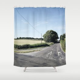 junction in the countryside Shower Curtain