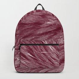 Red-Purple Fur Backpack