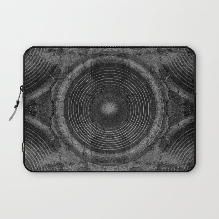 Black and white music speakers Laptop Sleeve