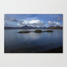 View of the Cuilin Canvas Print