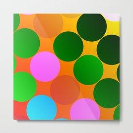 Gradient Dots Metal Print