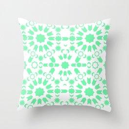 Mint Arabesque Throw Pillow
