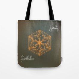 Sacral chakra healing mandala, glowing energy Tote Bag