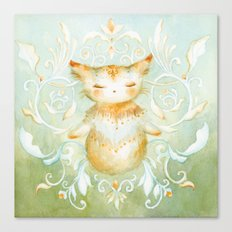 Gratitude Kitty Canvas Print