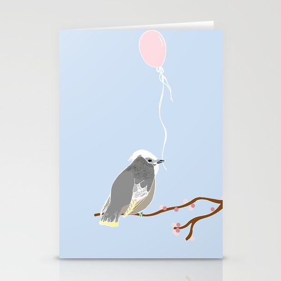 The birthday bird Stationery Cards