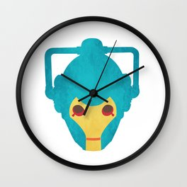 Colorful Cyberman Doctor Who Wall Clock