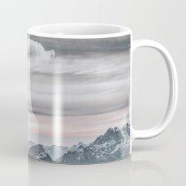 cloudy days with snowy mountains Coffee Mug