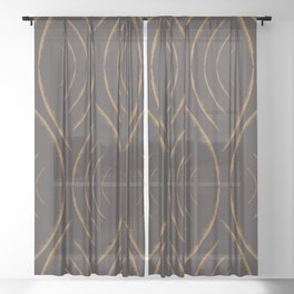 Caramel Feather Sheer Curtain