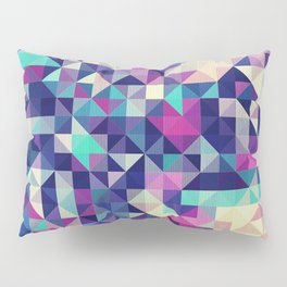 The Colors of the Summer (Minimal Triangle Pattern ) Pillow Sham