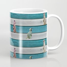 Meercat Beach Stripes Coffee Mug