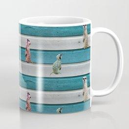 Meercat Beach Stripes Coffee Mug