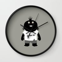 muppet Wall Clocks featuring Go for it! motivational muppet by simon oxley idokungfoo.com