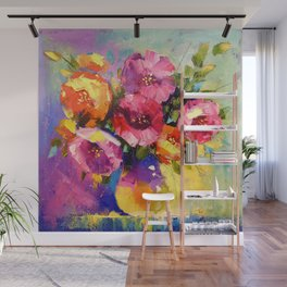Bouquet of spring flowers Wall Mural