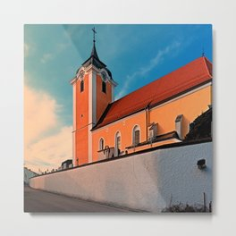 The village church of Neufelden I | architectural photography Metal Print