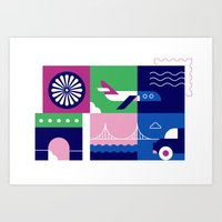 Travel by Plane Art Print