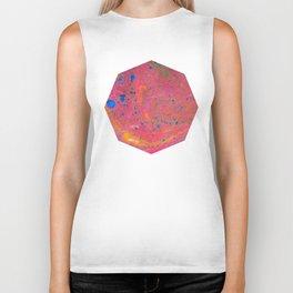 Marbling 3, Tie Dye Effect Abstract Pattern Biker Tank