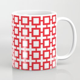 Red Trellis Coffee Mug