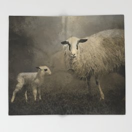Newborn Lamb Throw Blanket