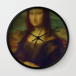 Mona Lisa poster Wall Clock