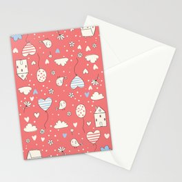 Lovely Life - Red Stationery Cards