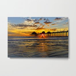 SURF CITY SUNSET 11-30-13 Metal Print