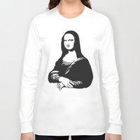 mona lisa Long Sleeve T-shirts featuring Mona Lisa by b & c