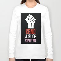 justice Long Sleeve T-shirts featuring Justice by Marvelous Insanity