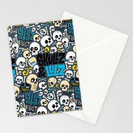 Skullz & Lulz Pattern Stationery Cards