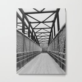 Winter Walk | Overpass Metal Print