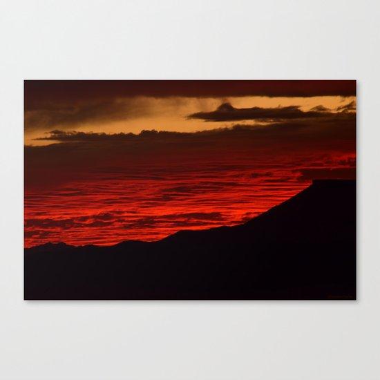 Red Hot Desert Sky Canvas Print