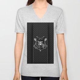 hogwarts metal Unisex V-Neck