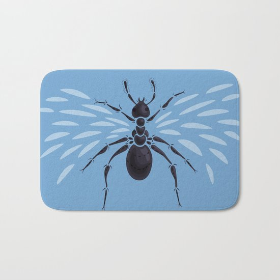 Weird Abstract Flying Ant Bath Mat