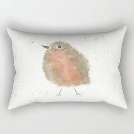 Whimsical Robin Red Breast Watercolor Rectangular Pillow