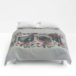 Camera with Summer Flowers Comforters