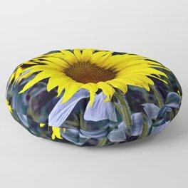 Sunflower Poetry Floor Pillow