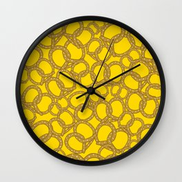 Pretzels With Mustard Wall Clock