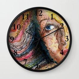 Rainbow World Girl Society Remix Wall Clock
