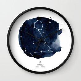Zodiac Star Constellation - Pisces Wall Clock