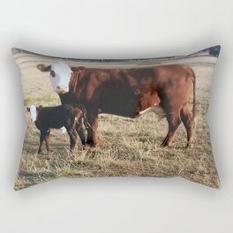 How Now Brown Cows #cows #farm  Rectangular Pillow