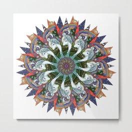 Amalthea the Last (Mandala) Metal Print