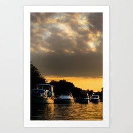 Boats on Lake Constance (Bodensee) Art Print