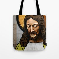 christ Tote Bags featuring Jesus Christ by Ed Pires