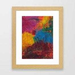 Paint Mess Framed Art Print