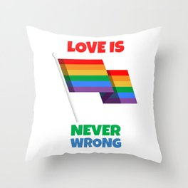 Love for everyone Throw Pillow
