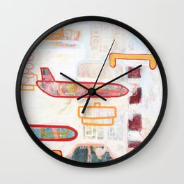 Exit To The Right Wall Clock