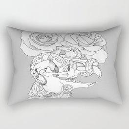 Lagomorph Skull and Snake Rectangular Pillow