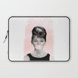 Audrey Hepburn Bubble Laptop Sleeve