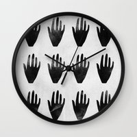 hands Wall Clocks featuring hands by namaki